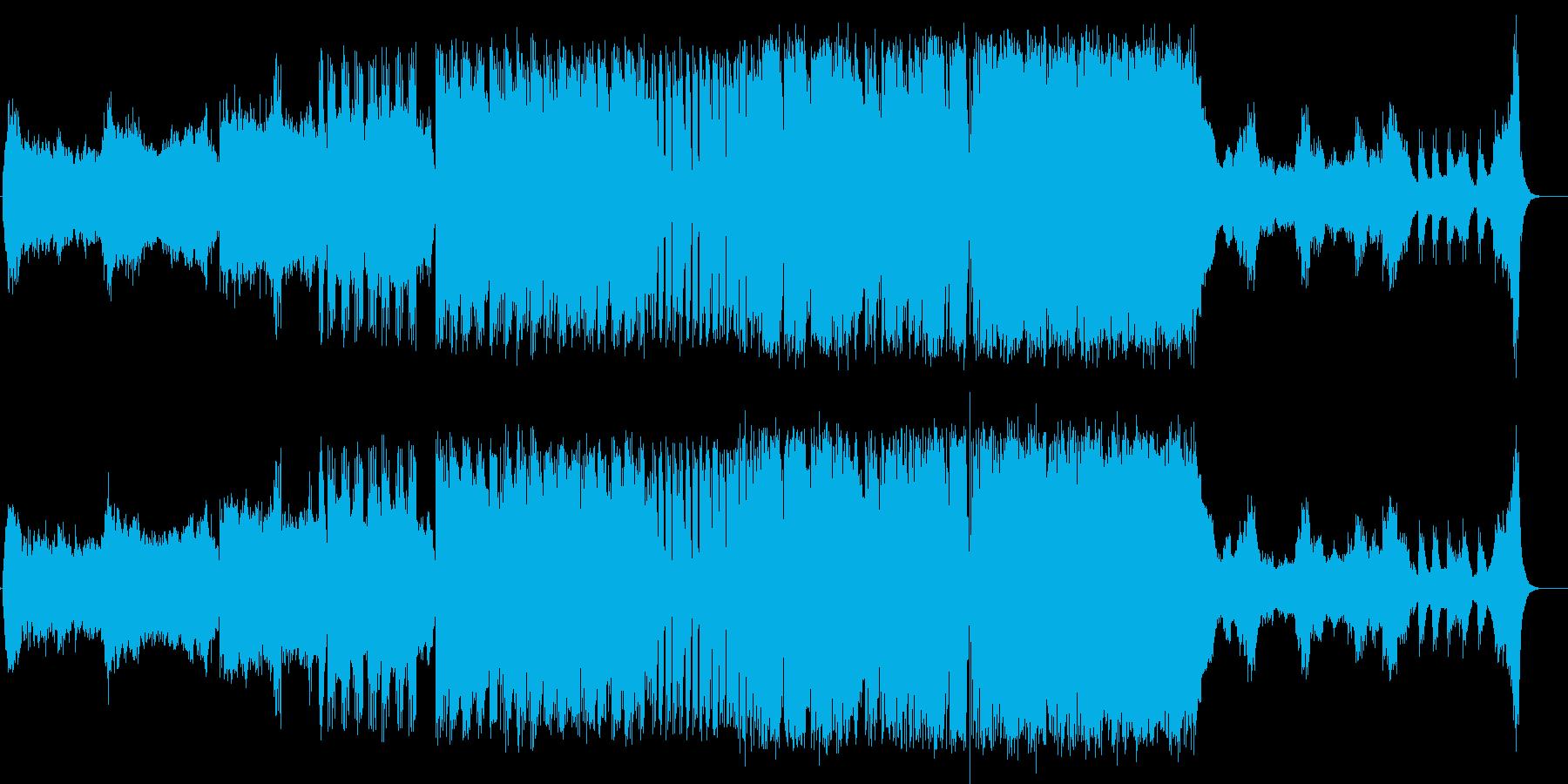 宇宙人や未知への遭遇っぽいテーマ曲の再生済みの波形