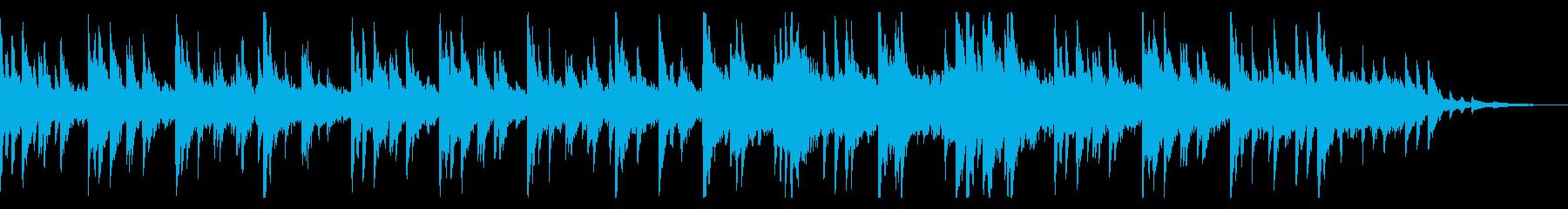 しっとりする優しいピアノ曲の再生済みの波形