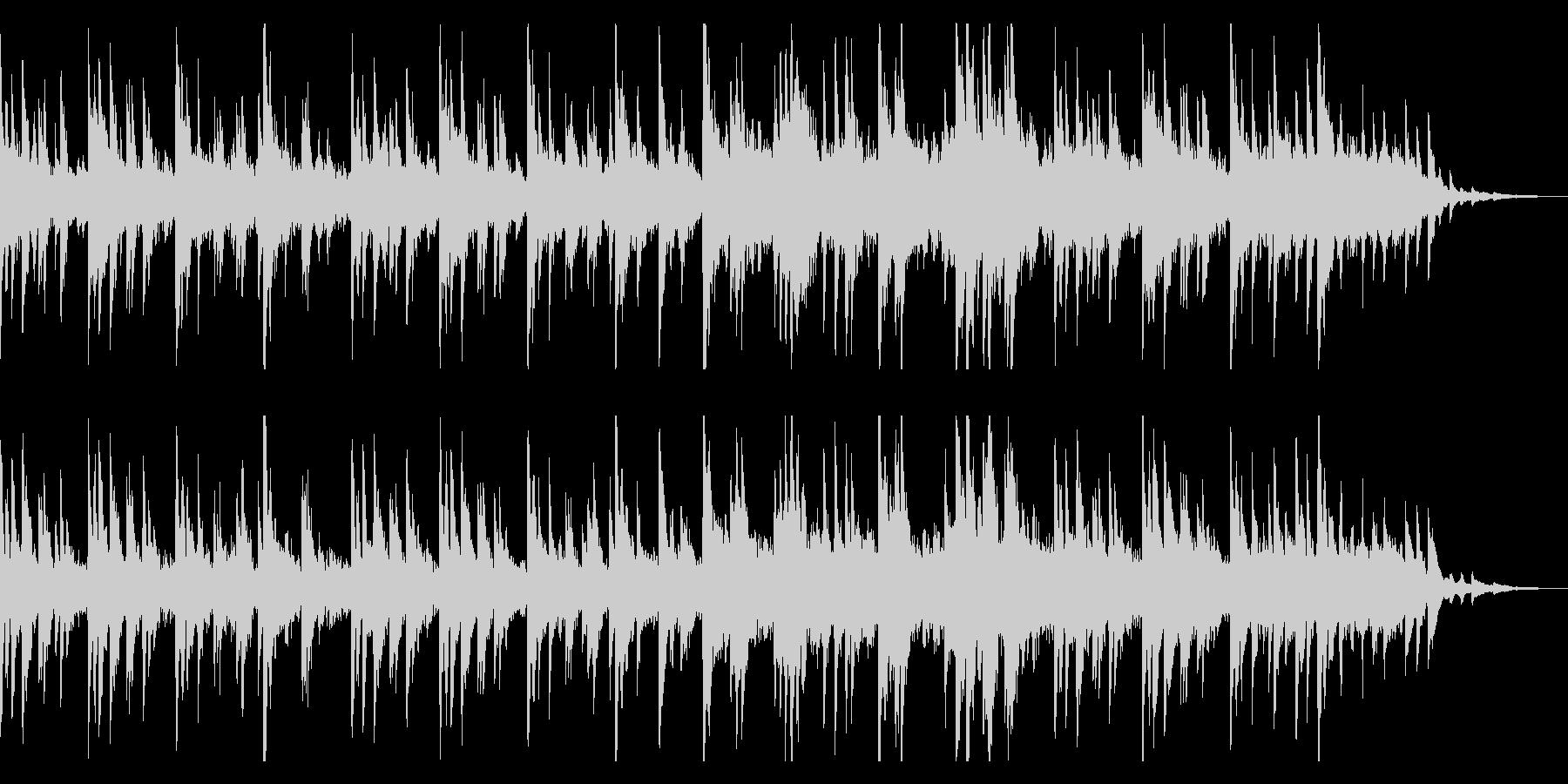 しっとりする優しいピアノ曲の未再生の波形