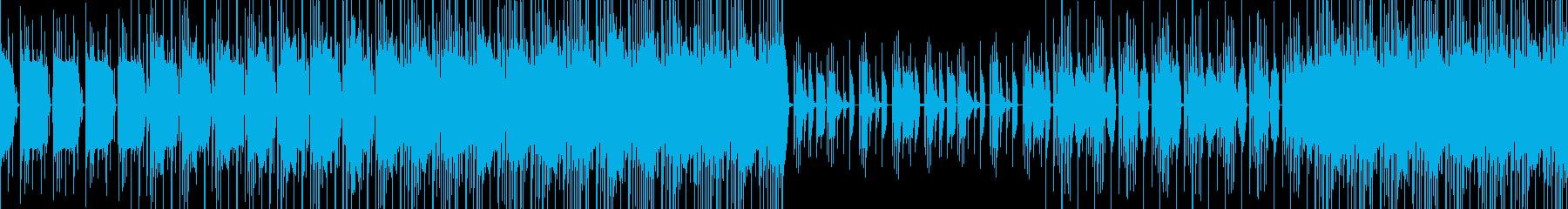 【ループ対応】少しダークなビートBGMの再生済みの波形