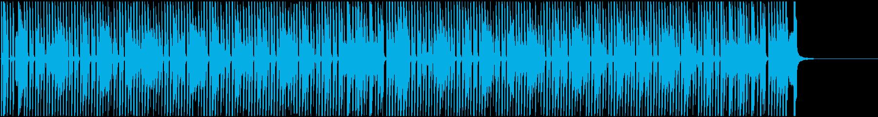 チップチューン 陽気なゲームBGMの再生済みの波形