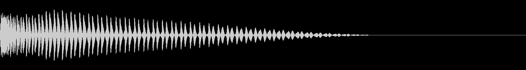 エレクトロなバスドラム、キックの未再生の波形