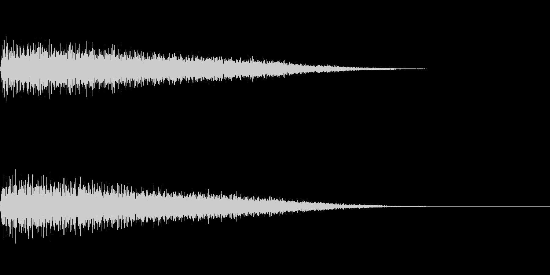シャー(飛び込み)の未再生の波形