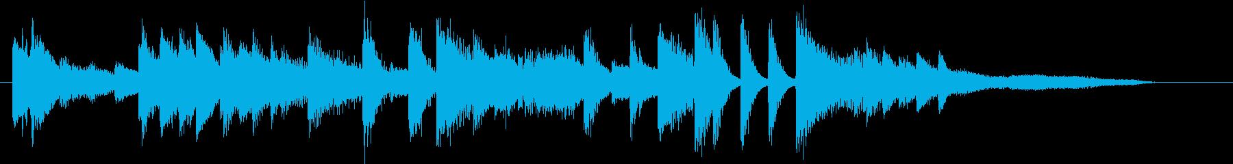 お正月・春の海モチーフのピアノジングルIの再生済みの波形