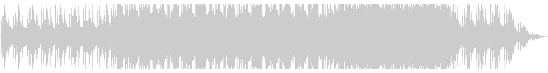 ピアノが主体の幻想的なバラードの未再生の波形