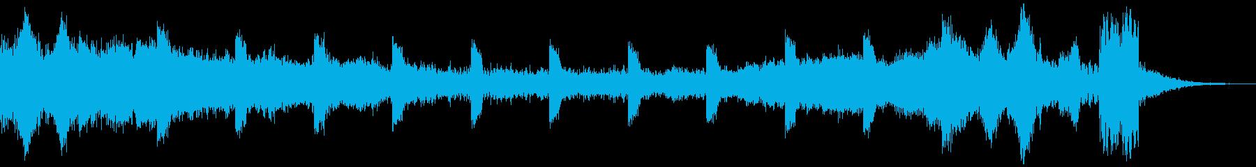 シンキングタイム(15秒)の再生済みの波形