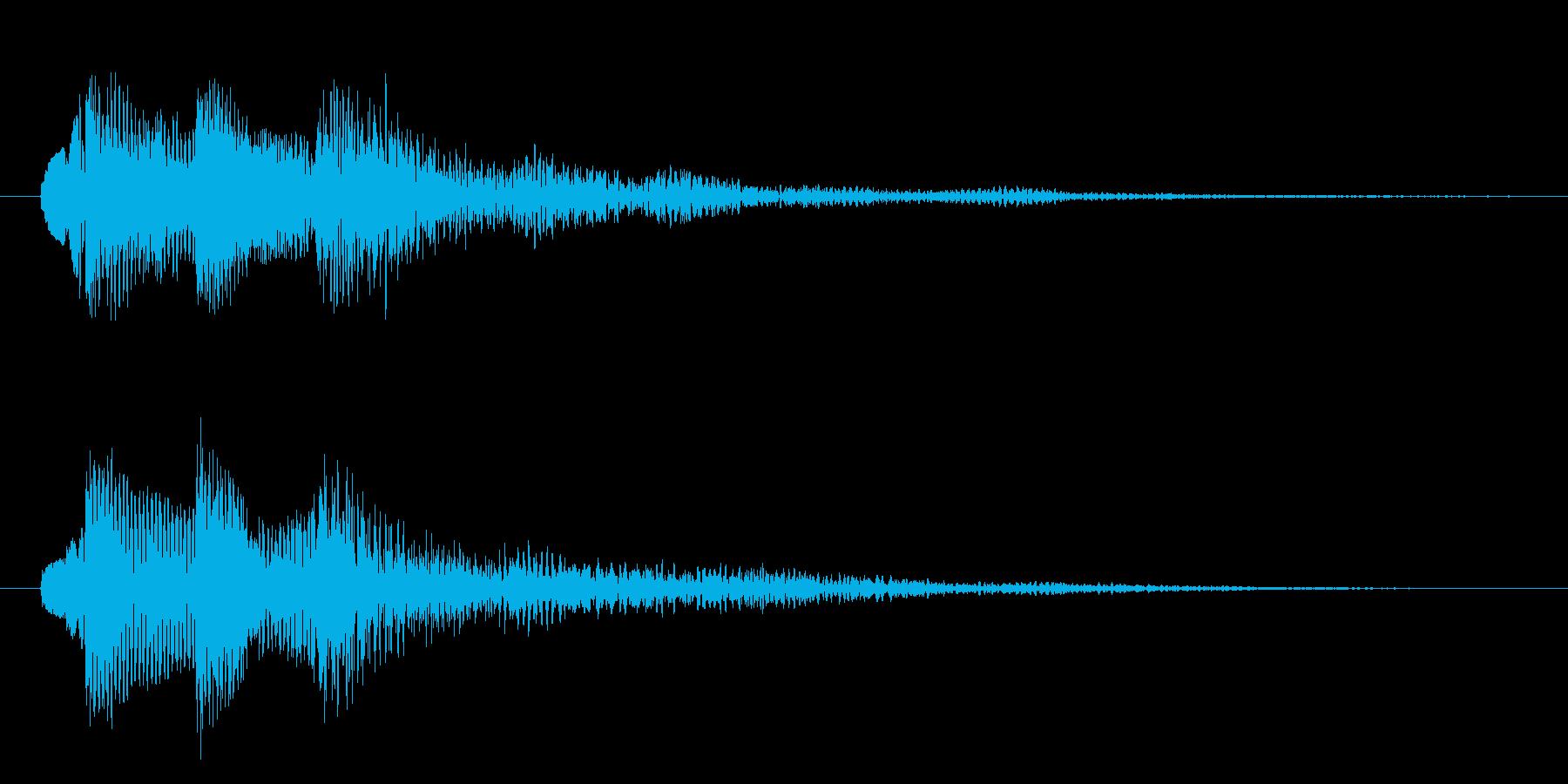 企業・CM おしゃれなピアノサウンドロゴの再生済みの波形