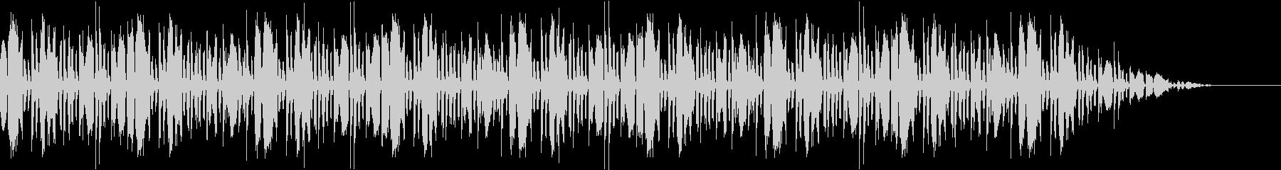 華々しい登場シーンのファンファーレの未再生の波形