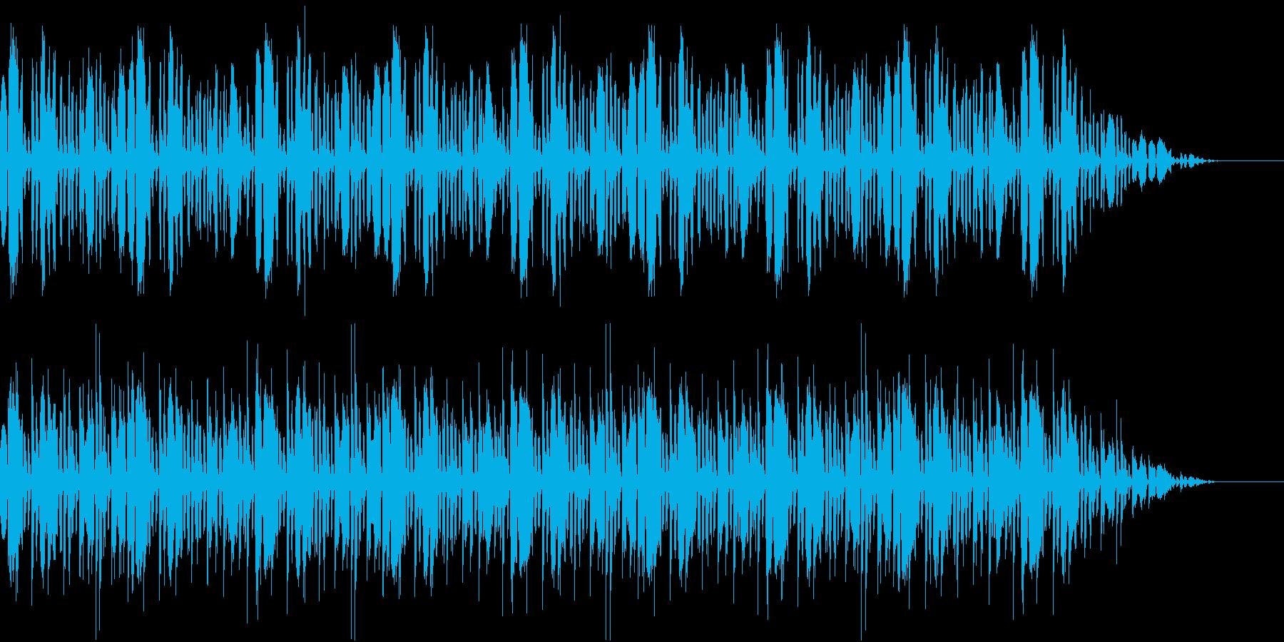 華々しい登場シーンのファンファーレの再生済みの波形