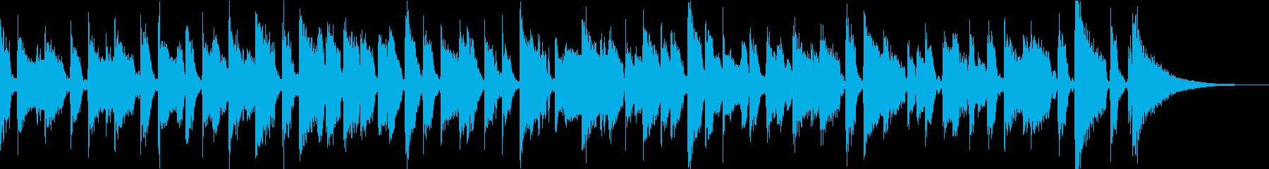 のんびり出来るカフェでのボサノヴァギターの再生済みの波形