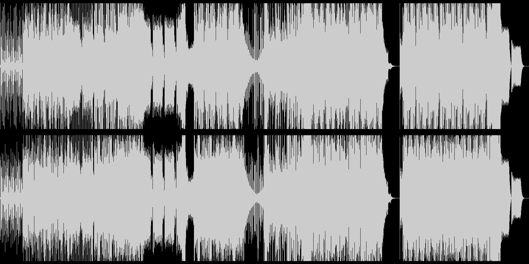 躍動感、疾走感のファンクなベースのBGMの未再生の波形