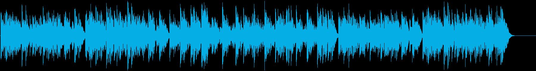 鉄琴の優しいほのぼの系の曲の再生済みの波形