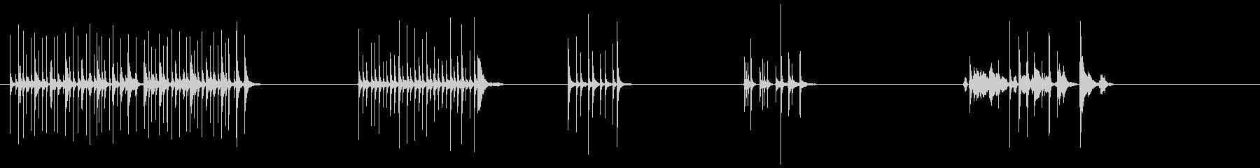 漫画、アクセントキッチンバンド、音...の未再生の波形