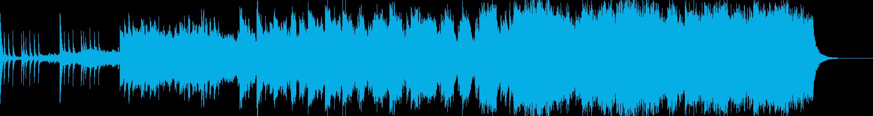 しっとりから徐々に壮大に駆けるバラードの再生済みの波形