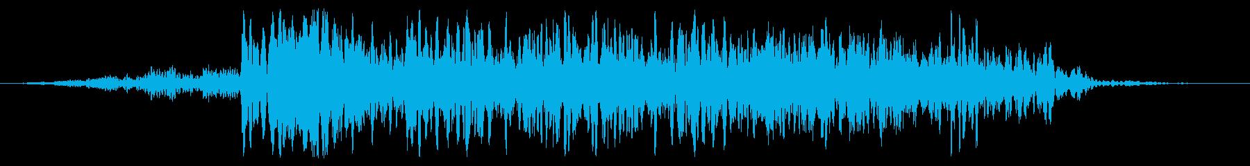 巨大スタンプ変換の再生済みの波形