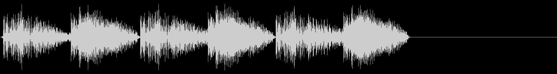 払い出し音・答え・結果の未再生の波形