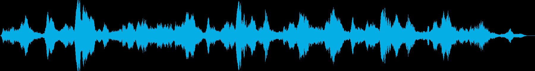 不安や不穏さを感じる乾燥した暗い不協和音の再生済みの波形