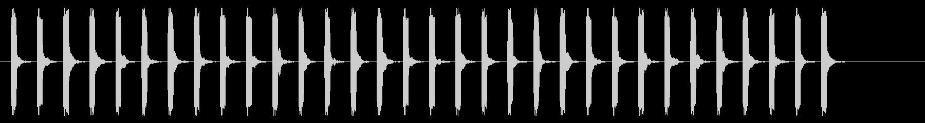心電図の音-3-8(BPM110)の未再生の波形