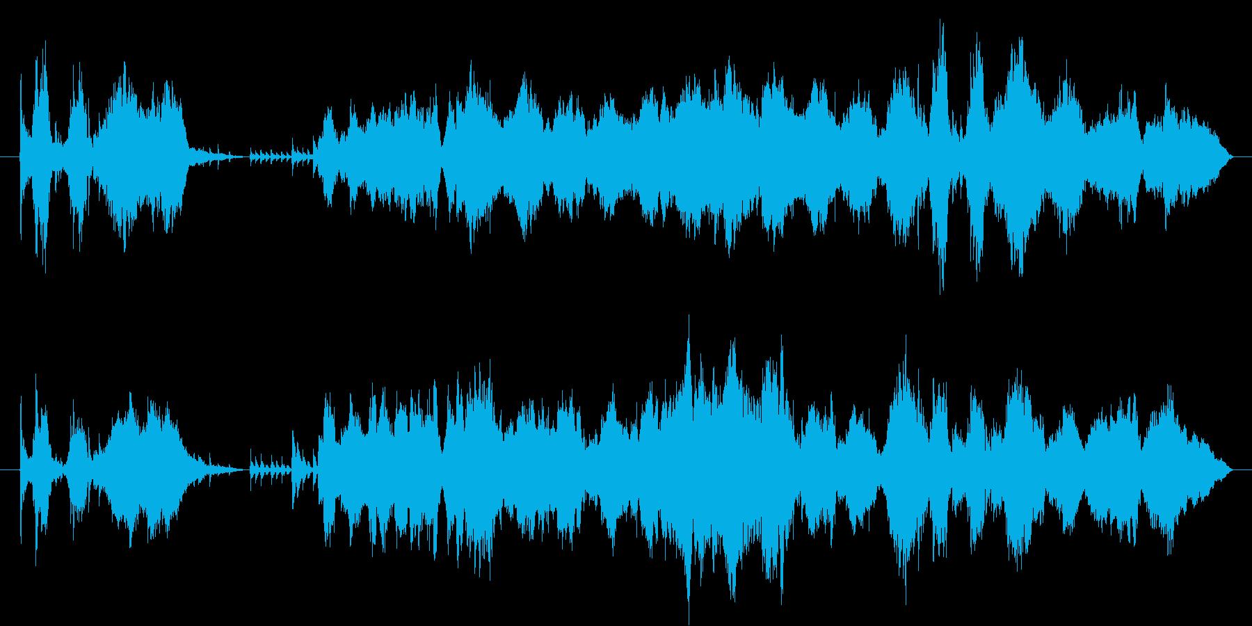 盛大でダイナミックなメロディーの再生済みの波形