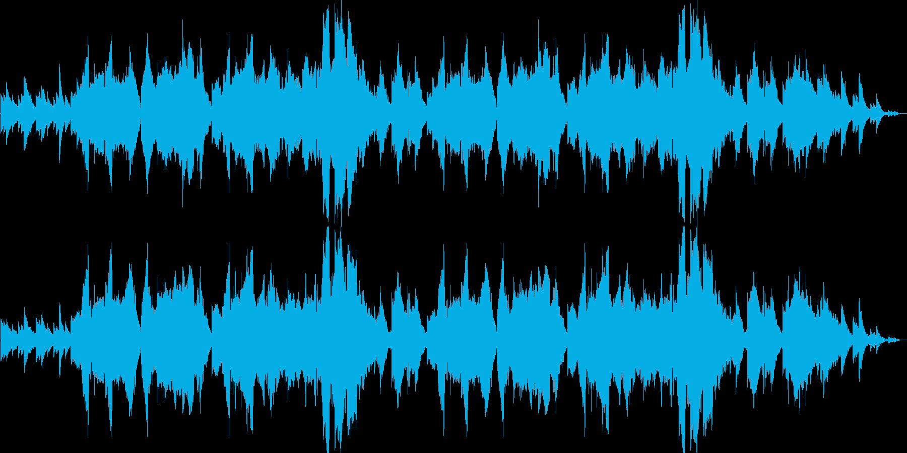 優しいリラクゼーションミュージックの再生済みの波形