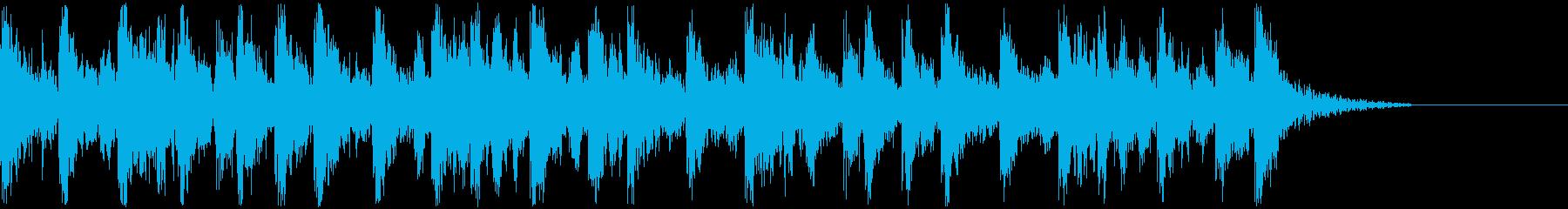 【JG】緊迫感のあるジングル01の再生済みの波形