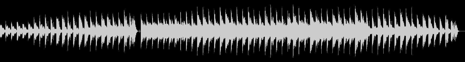 柔らかい音色シンプルフレーズ重ねリピートの未再生の波形