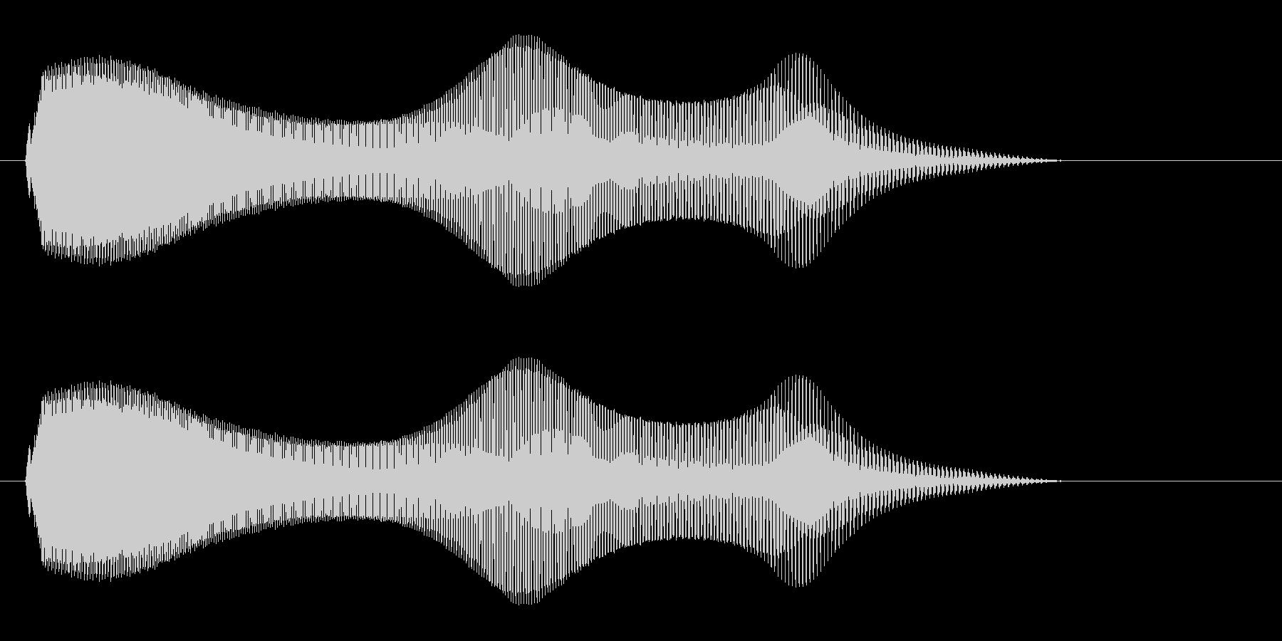 ニャーオ(鳴き声系)の未再生の波形