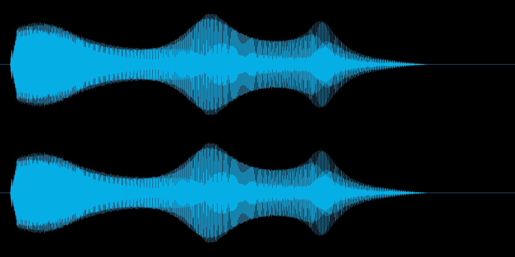 ニャーオ(鳴き声系)の再生済みの波形