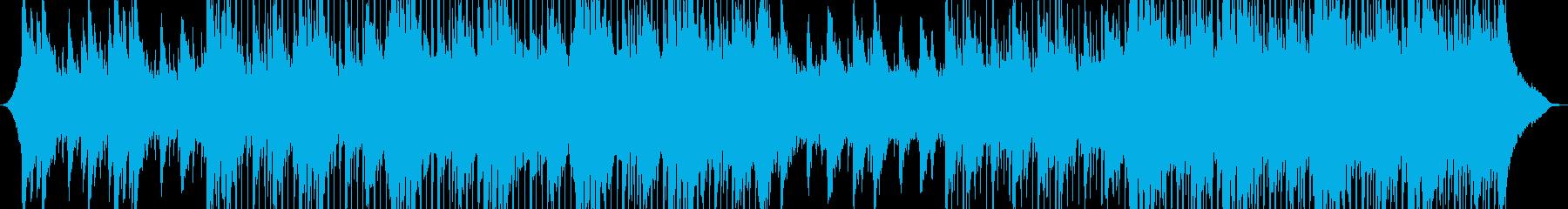 広告用の音楽の再生済みの波形