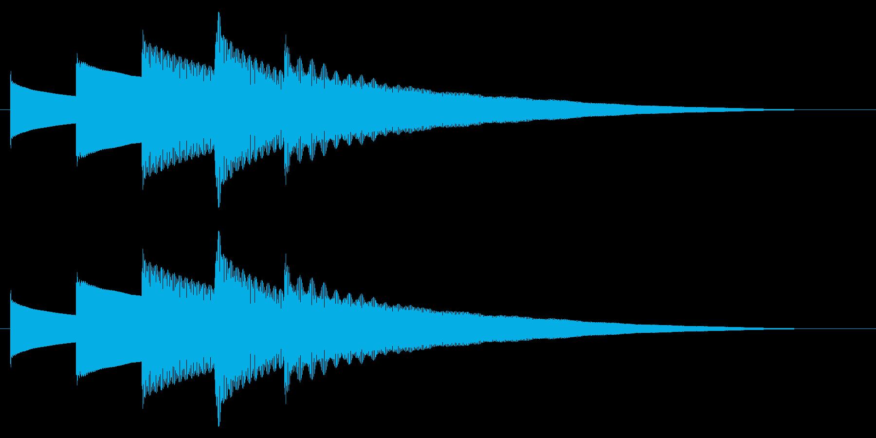 チャイム アナウンス09-6(5点 遅いの再生済みの波形