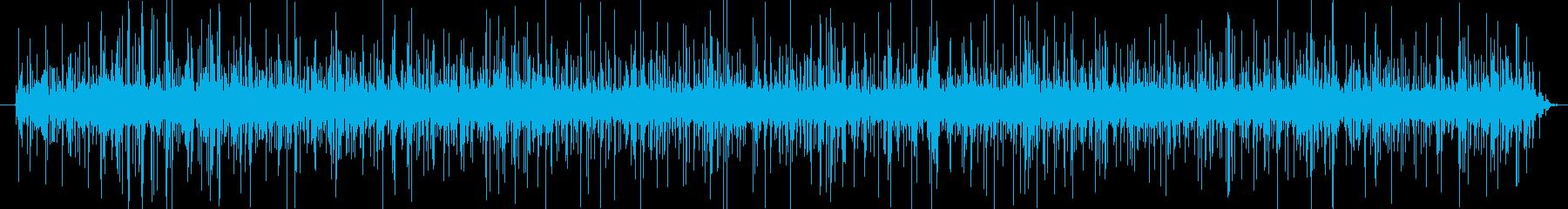 揚げ物の音(静かに揚げている)の再生済みの波形