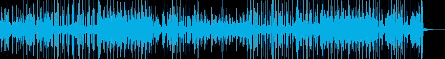 楽しく明るくほのぼのとした雰囲気のBGMの再生済みの波形