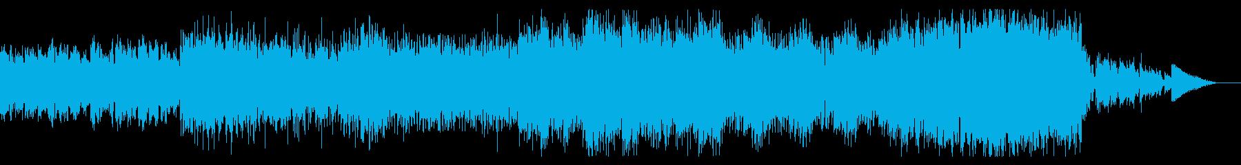 シネマティックなテクノ・ミュージックの再生済みの波形