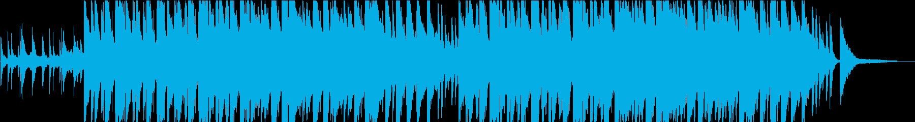 優しい雰囲気のピアノの再生済みの波形