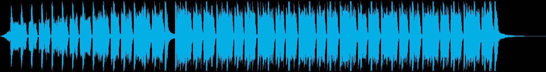 スポーツ音楽(30秒)の再生済みの波形