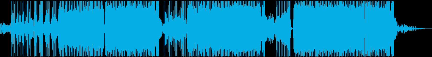 明るく元気なポップロックの再生済みの波形