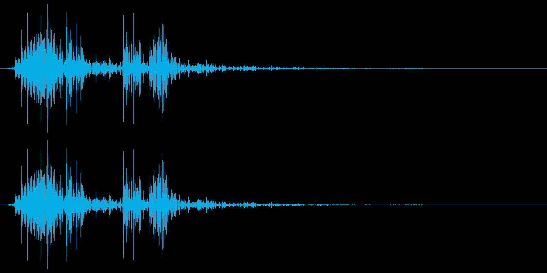 軋む(床など) ヘコッの再生済みの波形