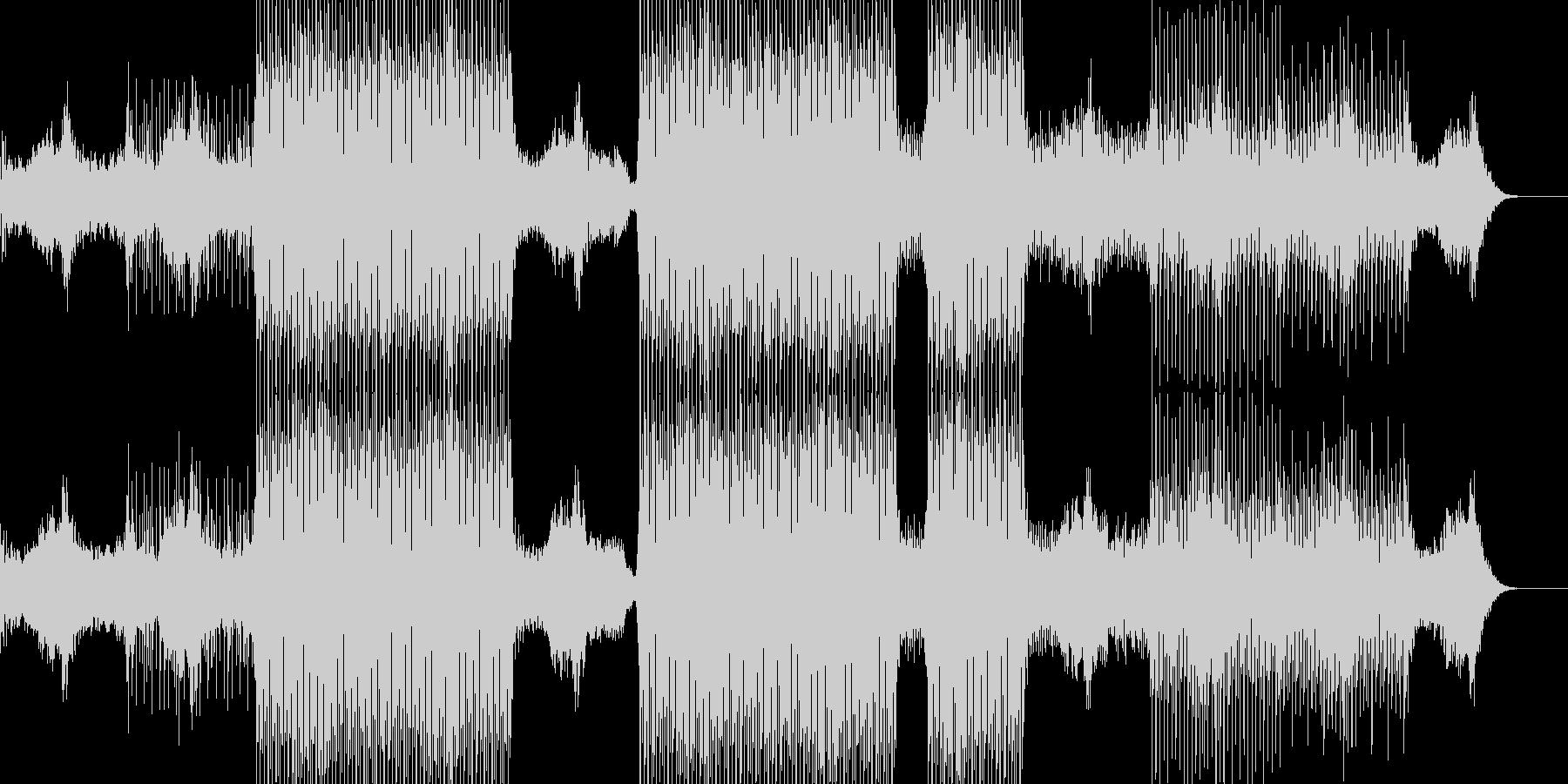 幻想的なイメージで透明感のあるテクノの未再生の波形