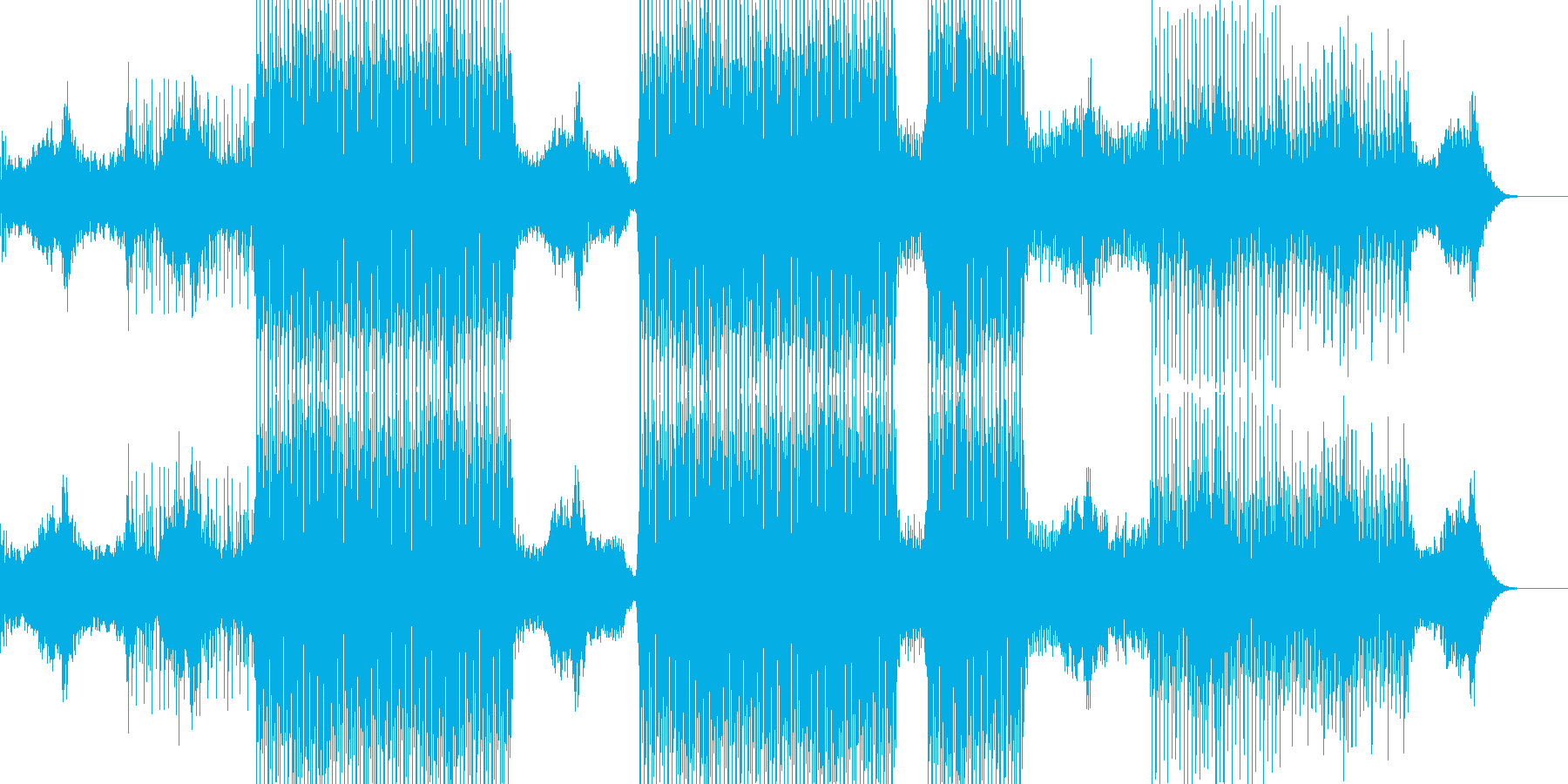 幻想的なイメージで透明感のあるテクノの再生済みの波形
