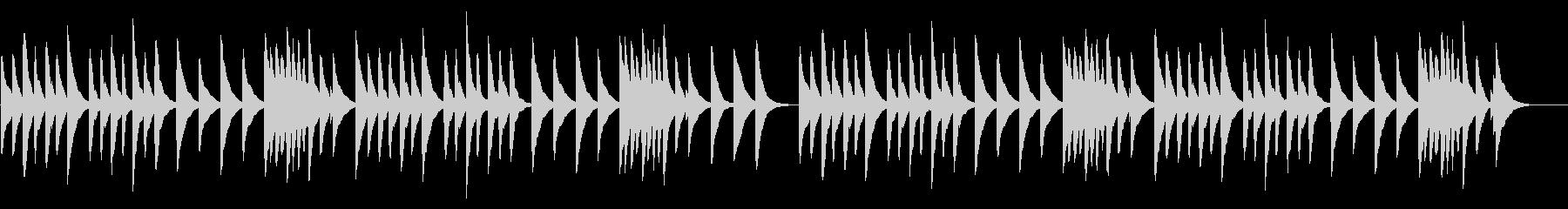 カエルの合唱 18弁オルゴールの未再生の波形