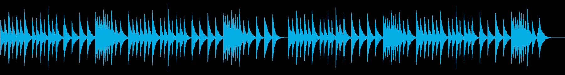 カエルの合唱 18弁オルゴールの再生済みの波形