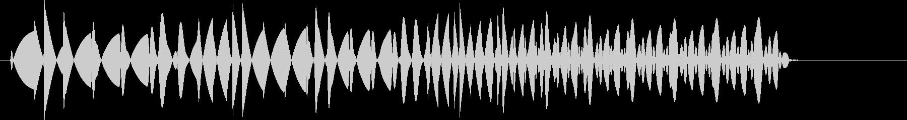 ビロロッ(プッシュ音・ボタン音)の未再生の波形