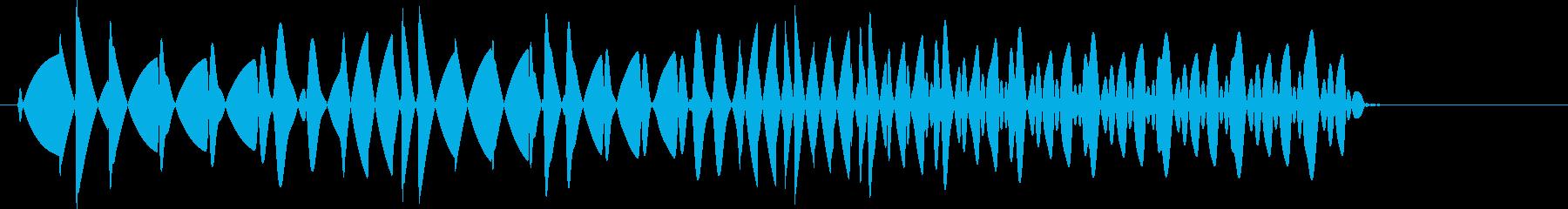 ビロロッ(プッシュ音・ボタン音)の再生済みの波形