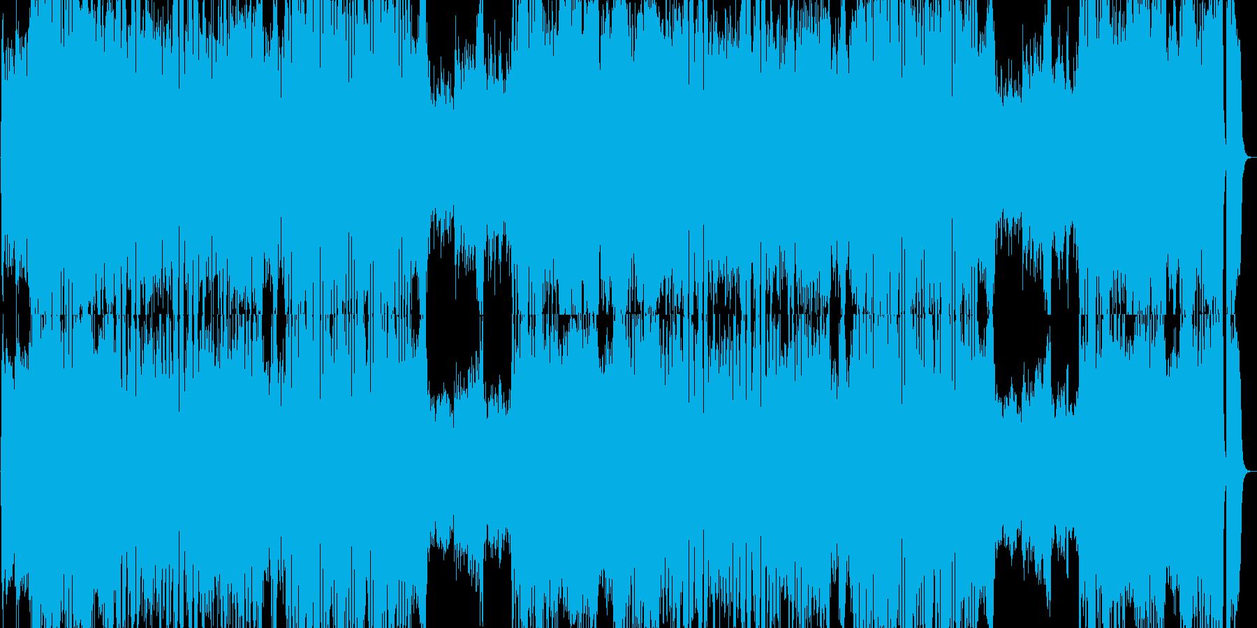 ドラマチックなオーケストラの戦闘曲の再生済みの波形