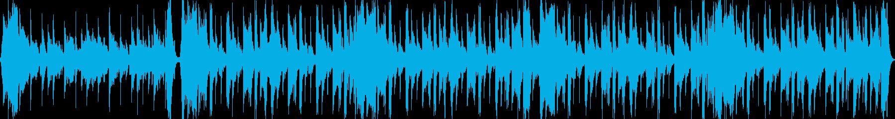 ゆったりとした優しいループBGMの再生済みの波形
