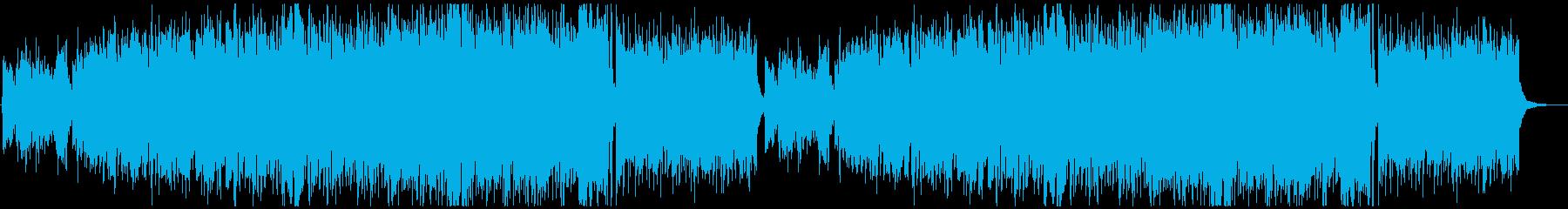 疾走感のあるケルト曲の再生済みの波形