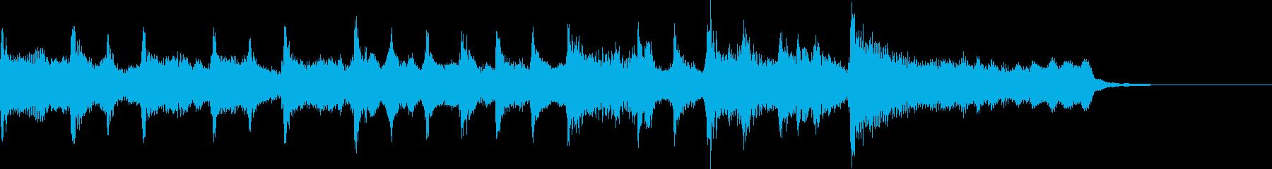 【ジングル】チャンネル登録・穏やかな曲の再生済みの波形