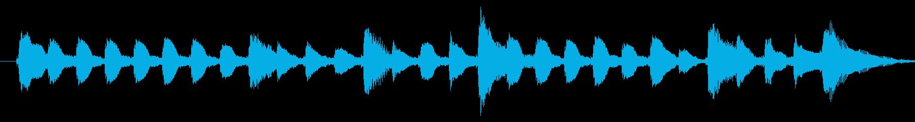 軽やかなピアノ爽やかなジングルの再生済みの波形