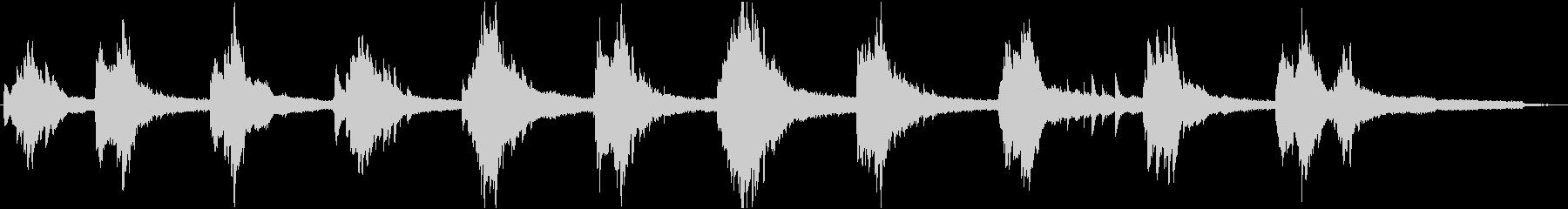 ピアノキラリの未再生の波形