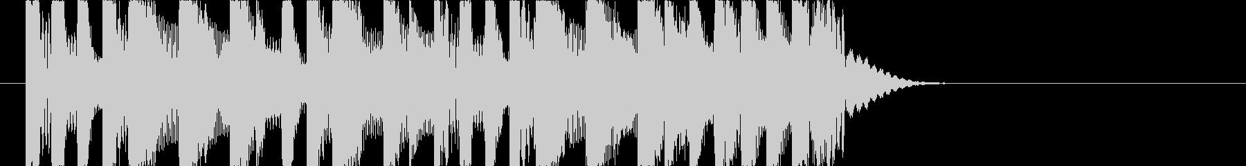 ノリの良いジャングルレゲエジングルの未再生の波形